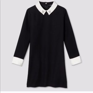 Victoria Beckham Black Bunny Collared Dress